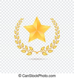 Star on transparent background