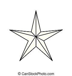 star on white background