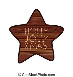 star on wooden with christmas message