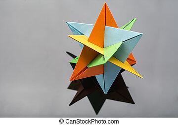 Star origami in studio