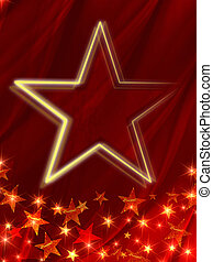 star over red background