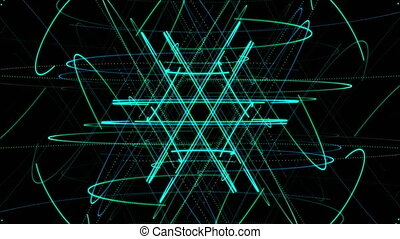 Star Particle AUX Video Background