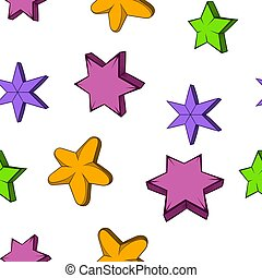 Star pattern, cartoon style