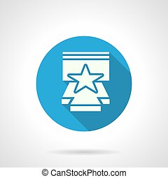 Star performance flat round vector icon