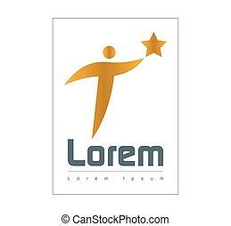 Star Person Logo Concept Design