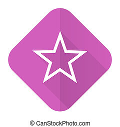 star pink flat icon