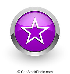 star pink glossy web icon