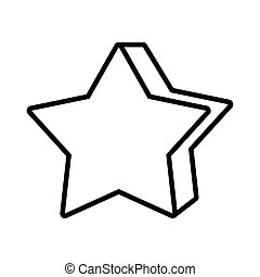 star pop art line style