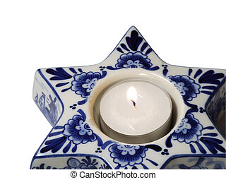 Star porcelain - Star shaped porcelain candle stand....