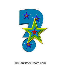 Star Quality Question - Question mark, in the alphabet set...