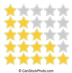 Star quality rating - Illustration of five star quality...