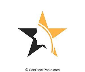 Star queen logo vector template