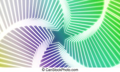 Star Radiation colorful 3