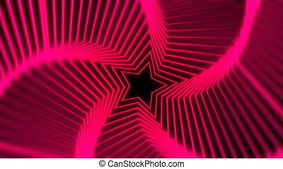 Star Radiation red blur - The star glow rotating animation...