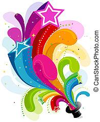 Star Rainbow Trail - Stars Rainbow Trail from Magic Hat with...