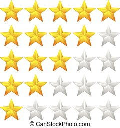 Star Rating Element. Star rating system for feedback, value...