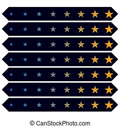 Star rating evaulation, assessment rating concept graphic. Grade, rank, cusomer satisfaction concept icon. Review, estiminate concept ? Stock illustration, Clip art graphic