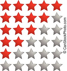 Star rating system icon / Colorful star design element for...