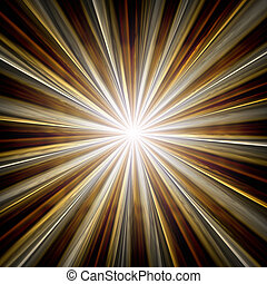 A beautiful golden star with rays background