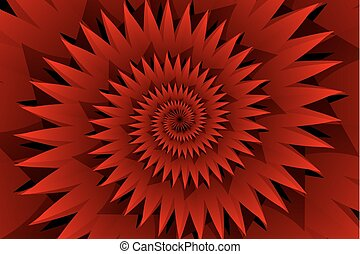 Star red abstract vector pattern, Concentric star shapes -...