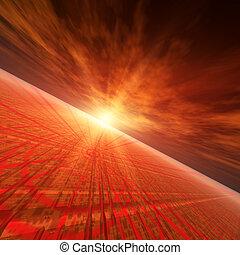Star Red Horizon