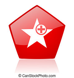 star red web glossy icon