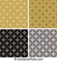 star repeat multi - illustrated seventies style wallpaper...