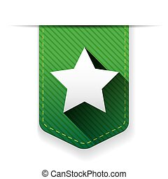 Star ribbon insignia vector