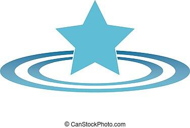 Star Ripples (Flat) - A Star, making ripples