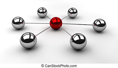 Star Scheme - 3d rendered image of a network in a star ...