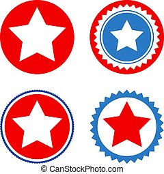 Star Seal Stamp Flat Icons - Star Seal Stamp flat vector ...