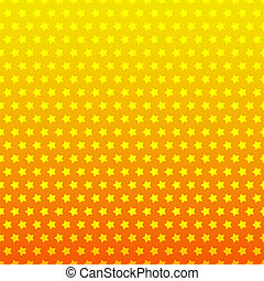 Star seamless background. Yellow and orange color
