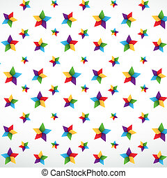 Star seamless pattern - Colorful star seamless vector...
