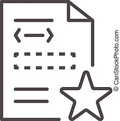 Star security document icon, outline style