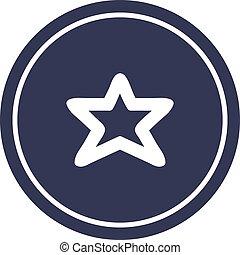 star shape circular icon symbol