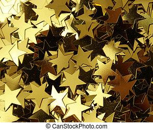 Star Shape Confetti - A closeup shot of a bunch of star...