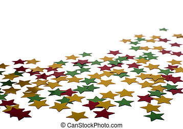 Star shape confetti christmas concept - Christmas decoartion...