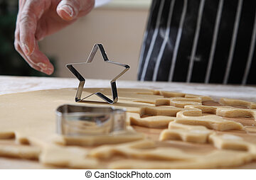 star shape cutter - chef is taking a star shape cutter