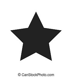 star shape decoration sky award emblem icon. Flat and isolated design. Vector illustration