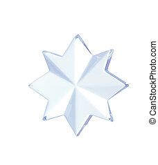 Star shape decoration isolated on white
