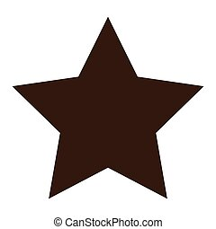 star shape icon over white background. vector illustration