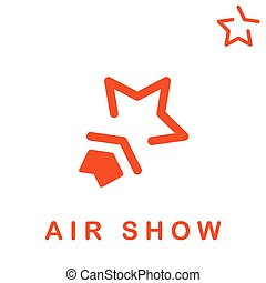 Star shape logo, air show concept, 2d vector, eps 8