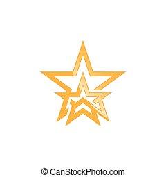 star shape logo vector