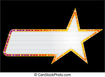 Star shape neon - Neon in star shape isolated on black...