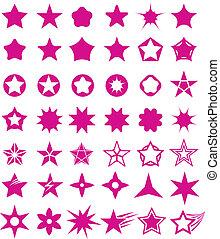 Star shape set.
