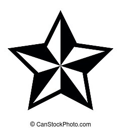 Star shape silhouette - Silhoutte of a star shape, Vector...