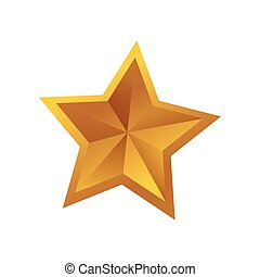 Star shape symbol icon vector illustration graphic design