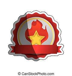 Star shape symbol icon vector illustration graphic design