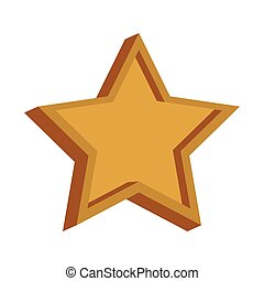 Star shape symbol vector illustration graphic design