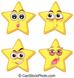 Star Shape with Different Emotion